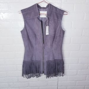 Illia Anthropologie Faux Suede feel Vest NEW